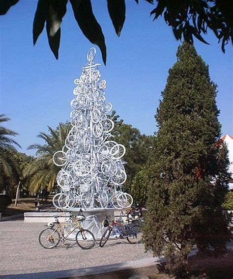 unique christmas tree made from cycles home trendy
