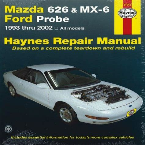 how to download repair manuals 2002 mazda mx 5 on board diagnostic system mazda 626 mx 6 ford probe 1993 thru 2002 all models