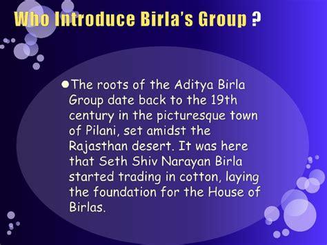 In Aditya Birla For Mba Freshers by Aditya Birla By Abhishek Mba