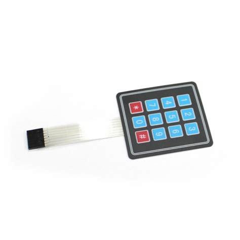 Keypad Membrane Matrix 12 factory price 4x3 matrix 12 key membrane switch keypad