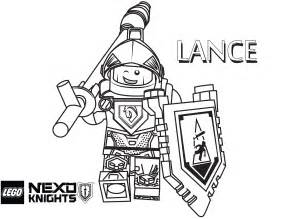 lance coloring printable sheet lego nexo knights