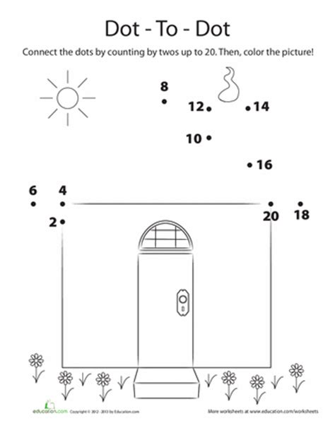 printable dot to dot counting by 2 s counting by 2s dot to dot worksheets count and math