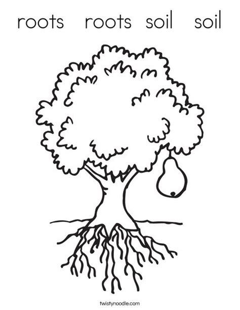 tree stem coloring page roots roots soil soil coloring page twisty noodle