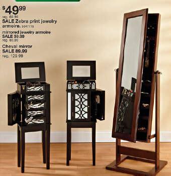 jewelry armoire black friday black friday deal zebra print jewelry armoire c1247 312