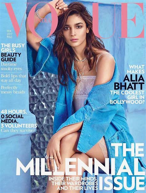 On The Cover Of Vogue This February by Alia Bhatt On Verve October 2016 Cover Alia Bhatt