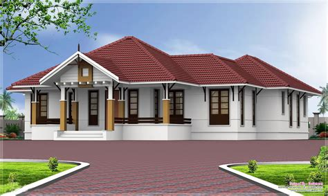 home plans single story single story homes single storey kerala home design at