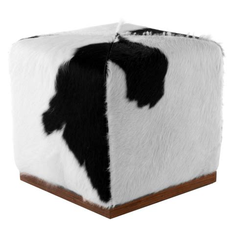 cowhide cube ottoman cowhide ottoman cube stool by design by free shipping