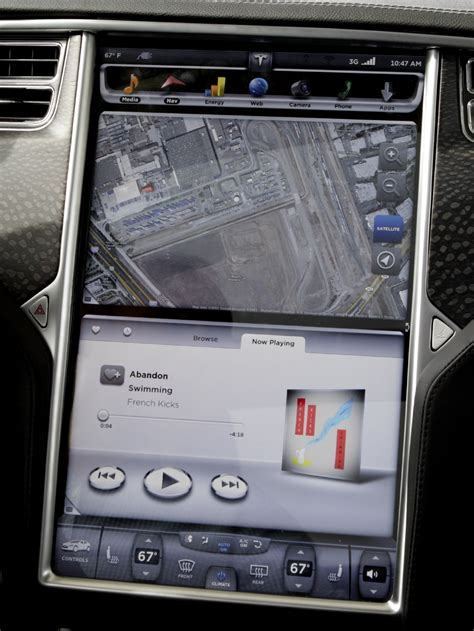 Tesla Touchscreen Tesla Model S Beta 1 A Glimpse Of The Future From The