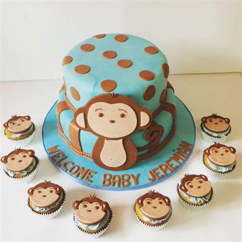 Baby Monkey For Baby Shower by Baby Shower Cake Monkey Cake For Baby Boy Baby Shower