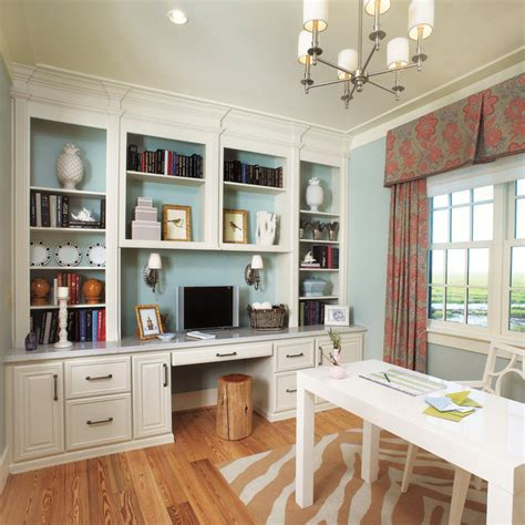 Office Built Ins by Fieldstone Cabinetry In Coastal Living Magazine