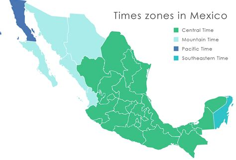 us mexico time zones map mexico map time zones