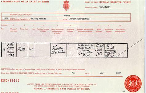 Birth Records Pre 1864 Birth Record