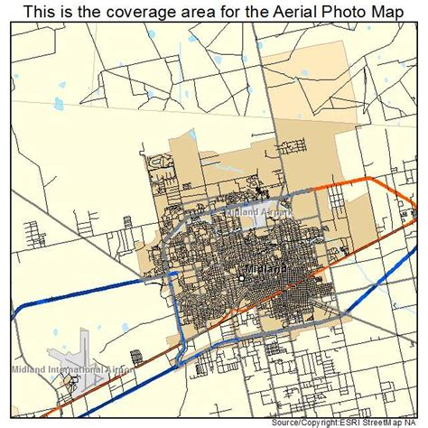 map of midland texas and surrounding areas aerial photography map of midland tx texas