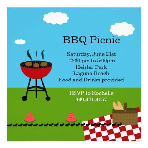 Bbq Party Invitation Templates Free Clipart Panda Free Clipart Images Free Picnic Invitation Template