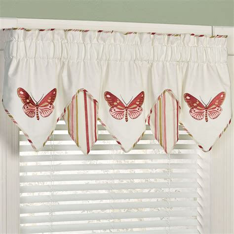 butterfly valance curtains butterfly garden embroidered window valance