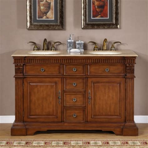 dresser style bathroom vanity 55 inch furniture style double sink bathroom vanity uvsr018155