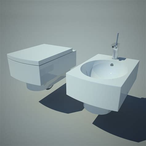 toilet bowl with bidet bowl bidet toilet obj