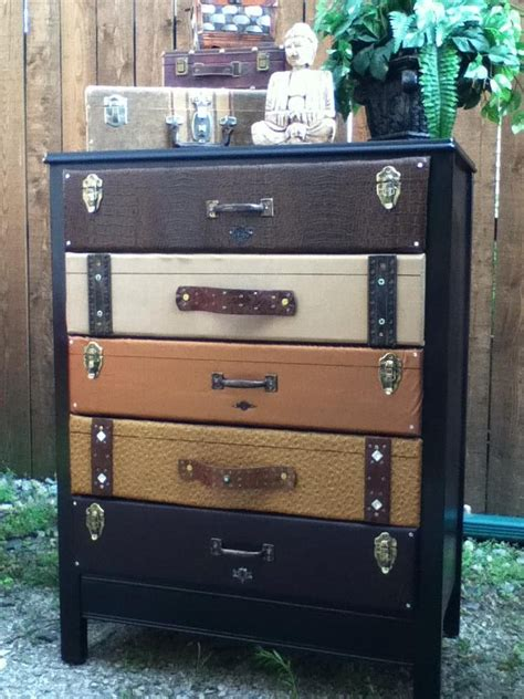 Luggage Dresser by Second Suitcase Dresser That I Made Repurposed