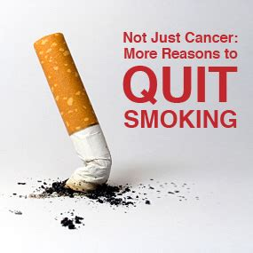 7 Reasons To Quit by 7 Lesser Known Reasons To Quit Beyond Lung Cancer