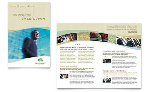 Investment Management Newsletter Template Design Financial Newsletter Templates