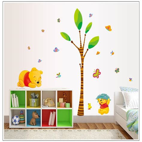 winnie the pooh home decor cute cartoon winnie the pooh bear tree home decor for kids