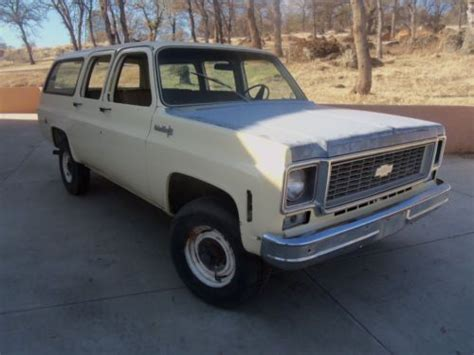 buy used 1973 chevy suburban 3 4 ton 4wd in oroville