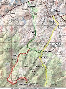 arizona trail map icehouse trail 198 hiking arizona