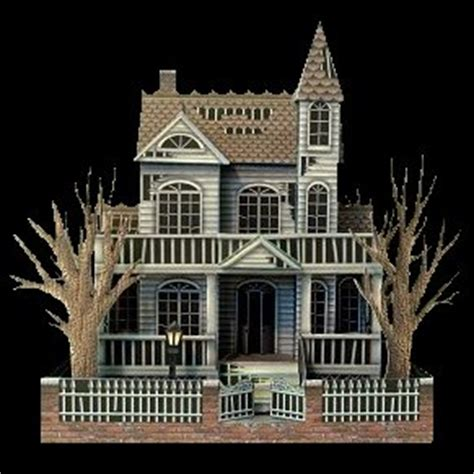 printable haunted house craft the ghost house a free paper model
