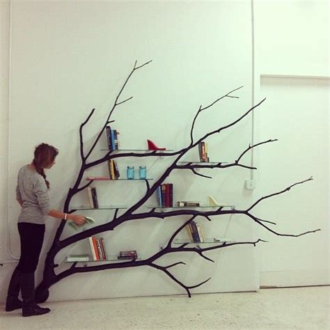 tree branch shelf home decor inspiration ideas