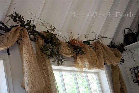 burlap window curtains 1000 ideas about burlap valance on pinterest country