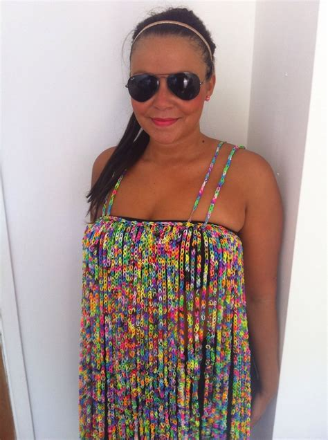 dress made from 24k loom bands sells on ebay for 170k new loom band dress on ebay includes anklet and glow in