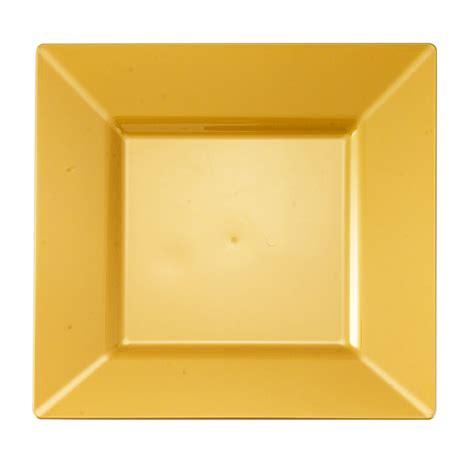 square plates gold 8 quot square plastic salad plates 10ct gold square collection