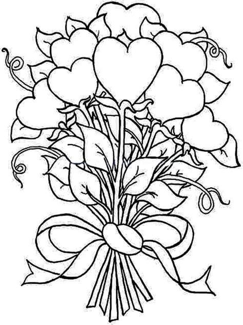 coloring page flower bouquet bouquet coloring pages