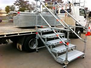 Truck Stairs by Australian Scaffold Stairs And Temporary Access
