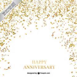 design backdrop anniversary confetti and serpentine anniversary background vector