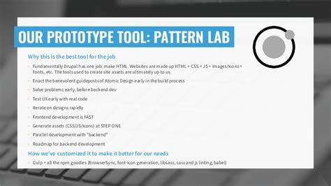 pattern lab plugins wireframes to widgets using paragraphs and prototyping