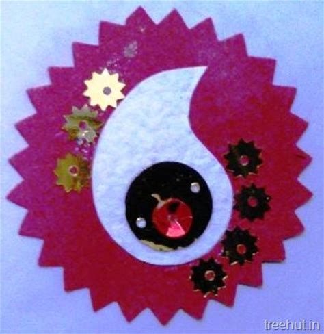 Handmade Paper Ideas - handmade paper rakhi craft ideas for