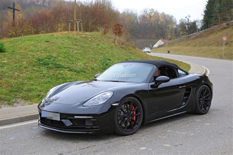 2019 Porsche Boxster Spyder by 2019 Porsche 718 Boxster Spyder Makes Spyshot Debut With