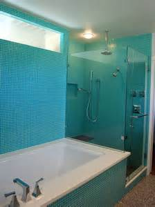 Design For Turquoise Glass Tile Ideas Turquoise Glass Tile Bathroom Contemporary With Blue Tile Glass Shower Beeyoutifullife