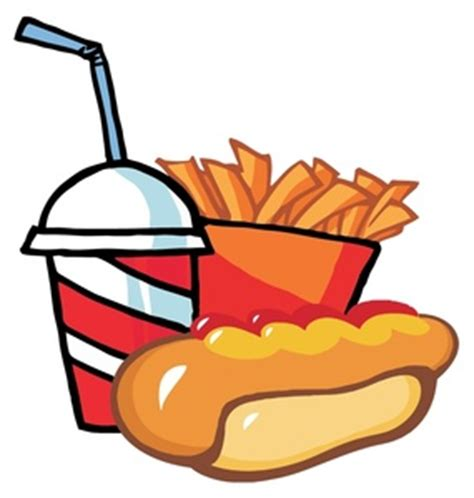 hot chips clipart hotdog and hamburger clipart clipart panda free