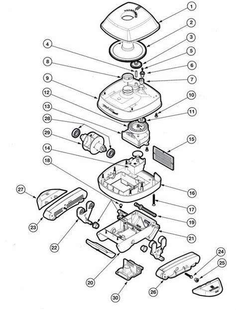 pool parts diagram hayward pool vac classic pool cleaner parts list