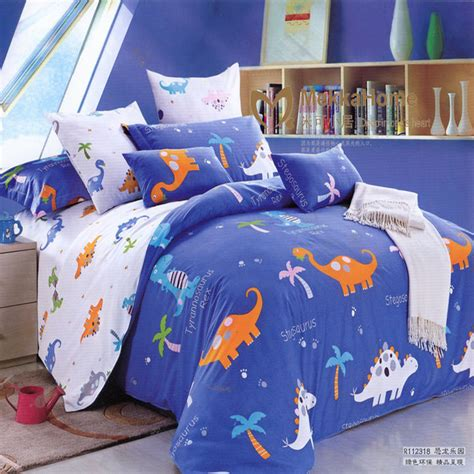 queen size childrens bedding free shipping children cartoon blue dinosaur bed sets twin