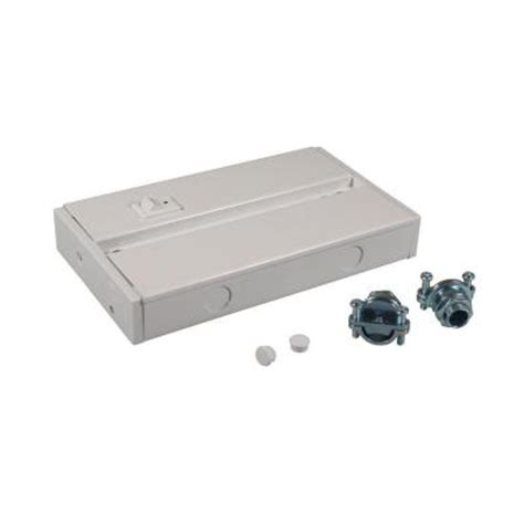 Irradiant White Hardware Junction Box For Led Under