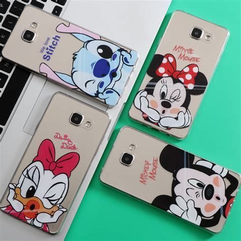 Casing Samsung A3 2017 Mickey And Minnie Mouse Custom minnie mickey for coque iphone 7 6 6s 5 5s se for samsung galaxy j3 j5 a3 a5 2016 2017