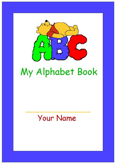 printable alphabet book template 5 best images of abc book printable template free