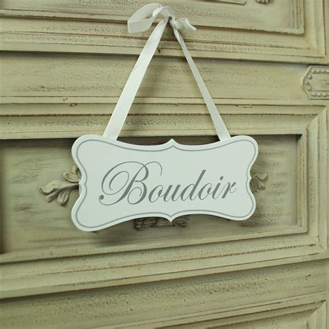 white wooden boudoir hanging plaque melody maison 174