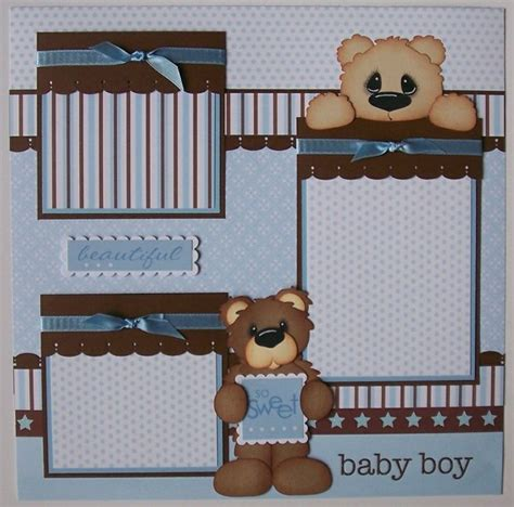 scrapbook layout baby boy 17 best images about baby boy scrapbook pages on pinterest