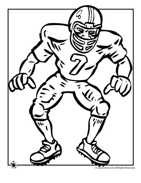 coloring page of a football player football color pages az coloring pages