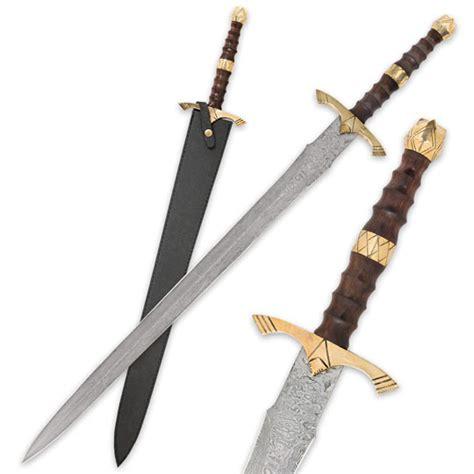 steel sword legends in steel heartwood damascus sword true swords