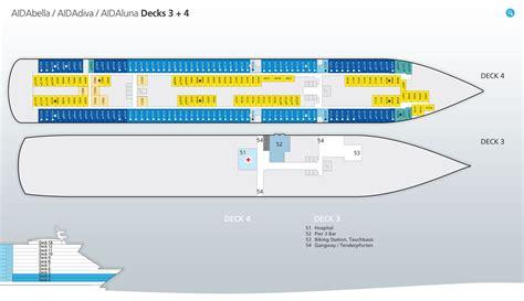 aidadiva kabinen deck 5 deckspl 228 ne decksgrundrisse aidabella ansehen aida